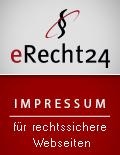 Siegel-Impressum von e-recht24.de für rechtssichere WEB-Seiten